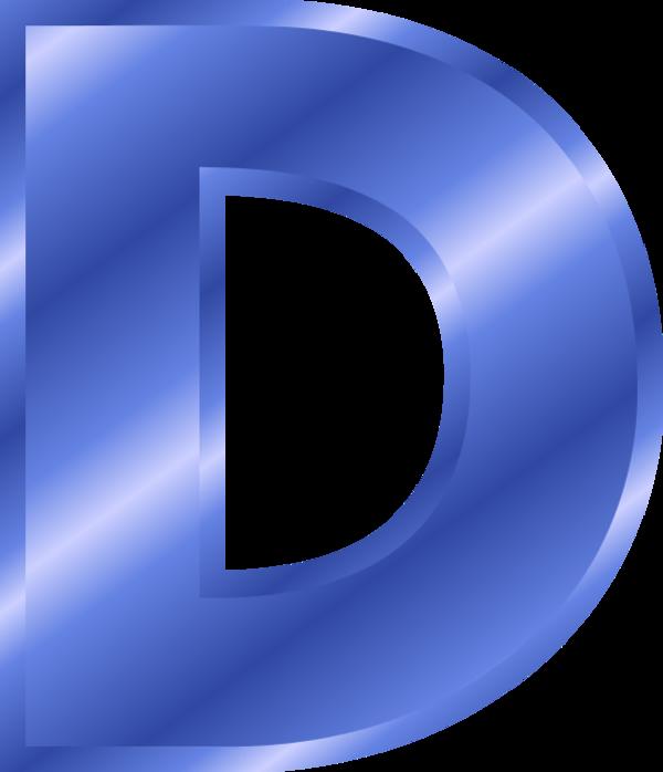 Letter D Blue Clipart.