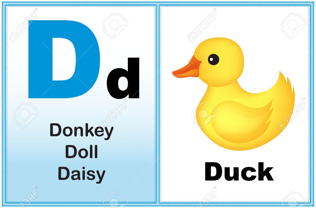 Alphabet letter D with clip.