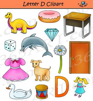 Letter D Clipart Set Commercial.