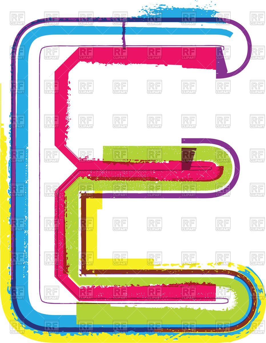 Capital colorful letter E Stock Vector Image.