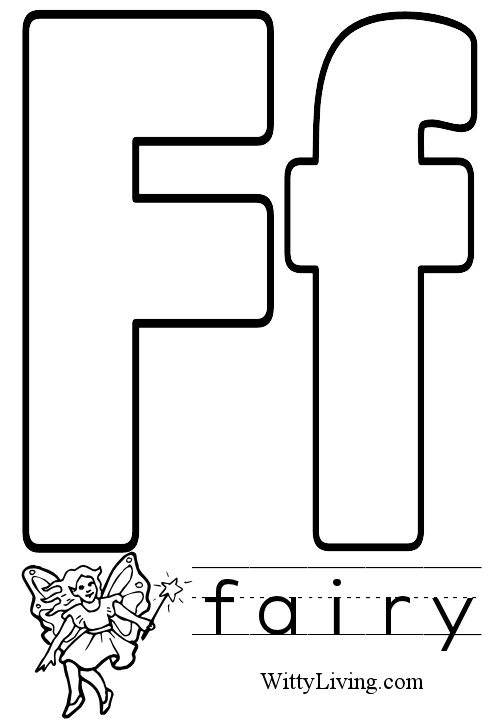 Letter F Clipart Black And White.