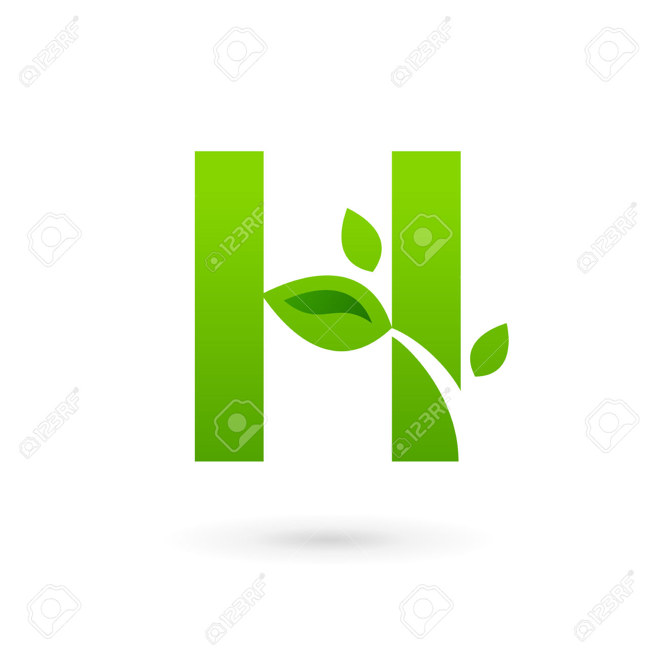 letter h clipart template