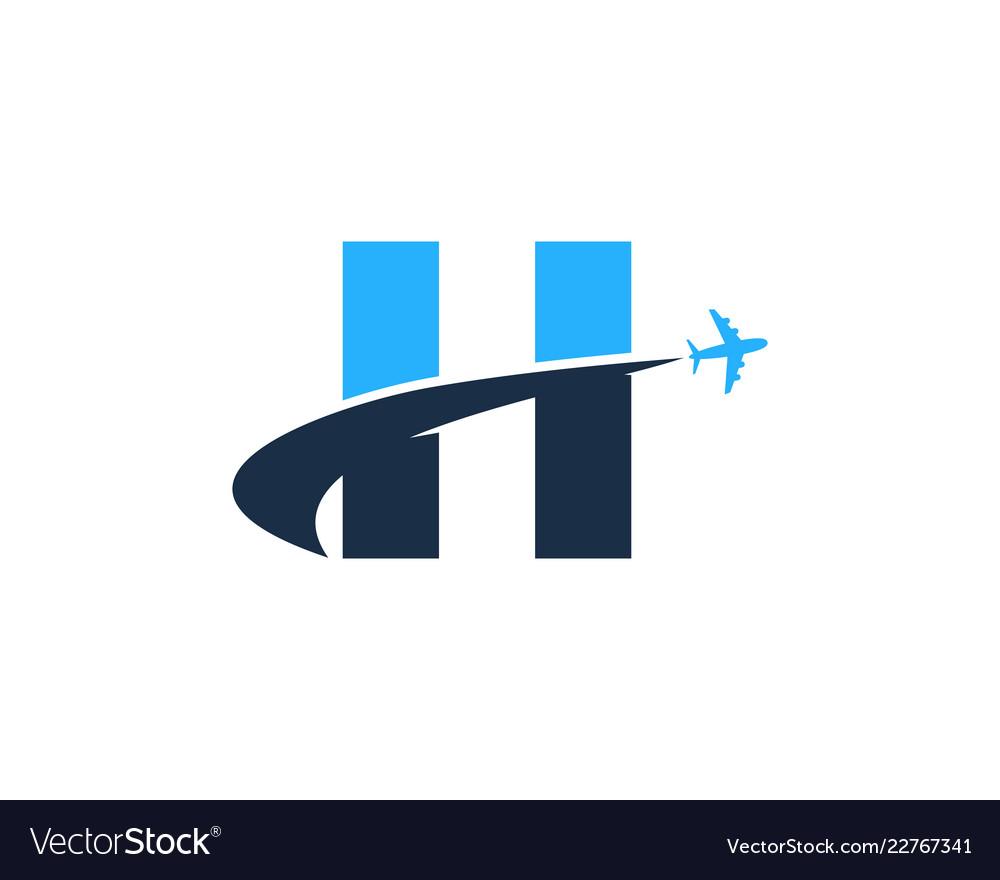 Travel letter h logo icon design.