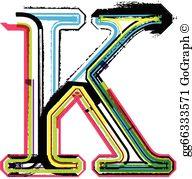 Letter K Clip Art.