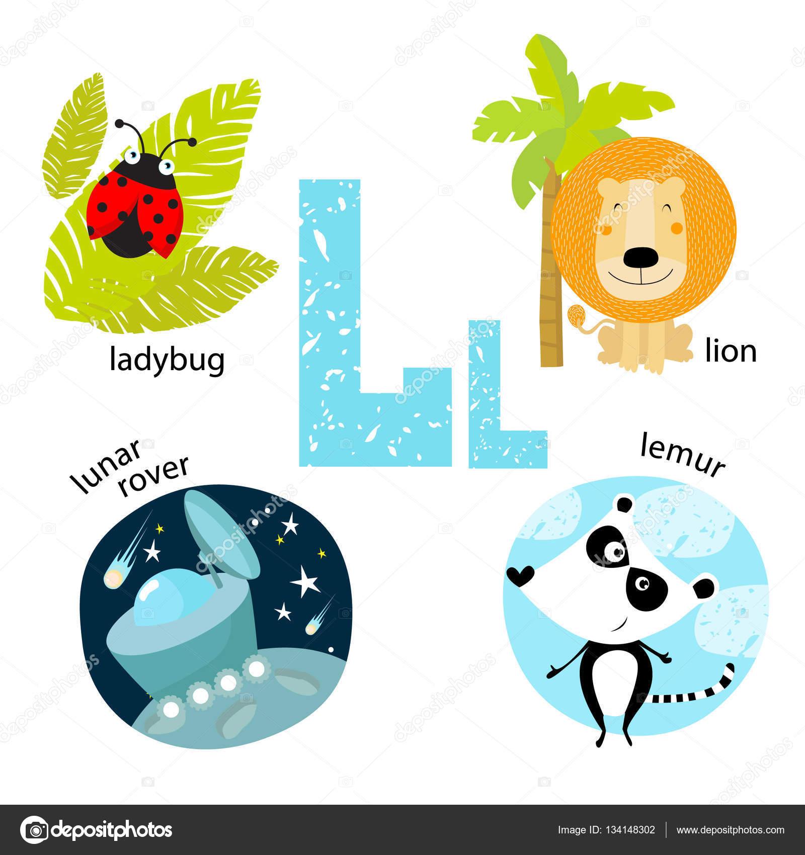 Vector illustration for teaching children the English alphabet.