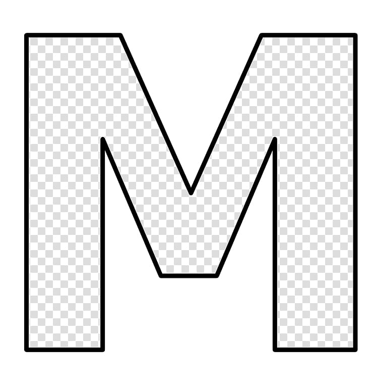 Moldes, black M letter transparent background PNG clipart.