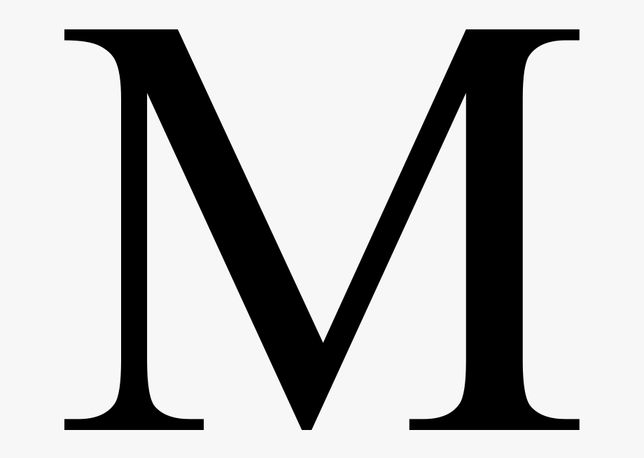 Greek Letter M Clipart , Png Download.