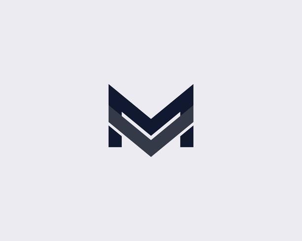 Simple Letter M Logo Design Template.
