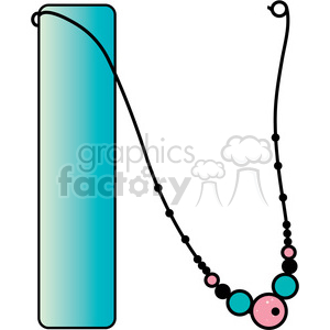Letter N Necklace clipart. Royalty.