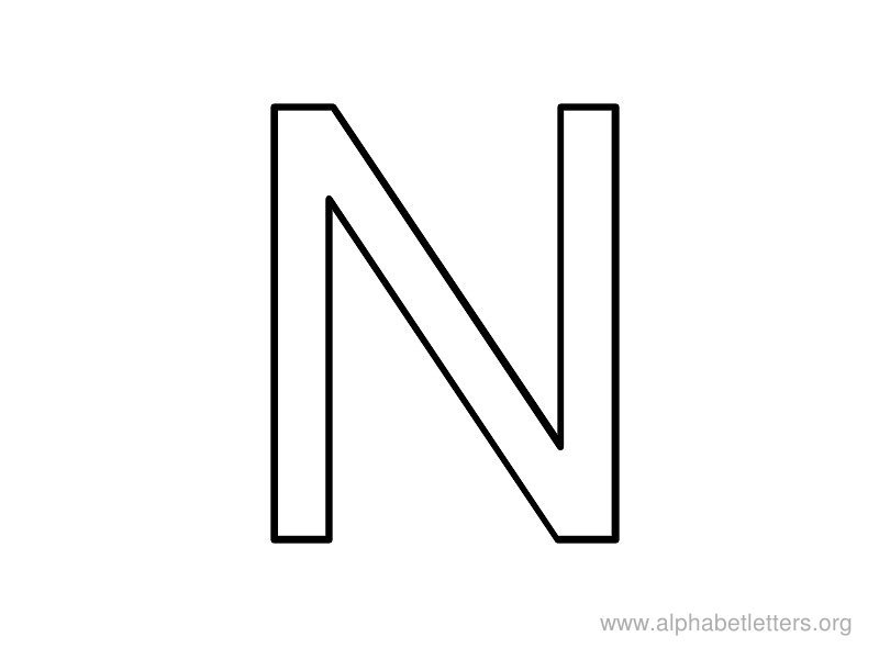 Letter n clipart black and white 2 » Clipart Portal.