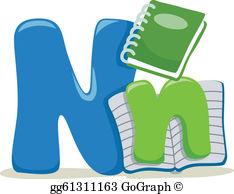 Letter N Clip Art.
