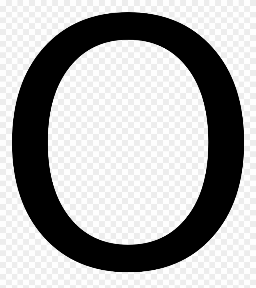 White Letter O Png.
