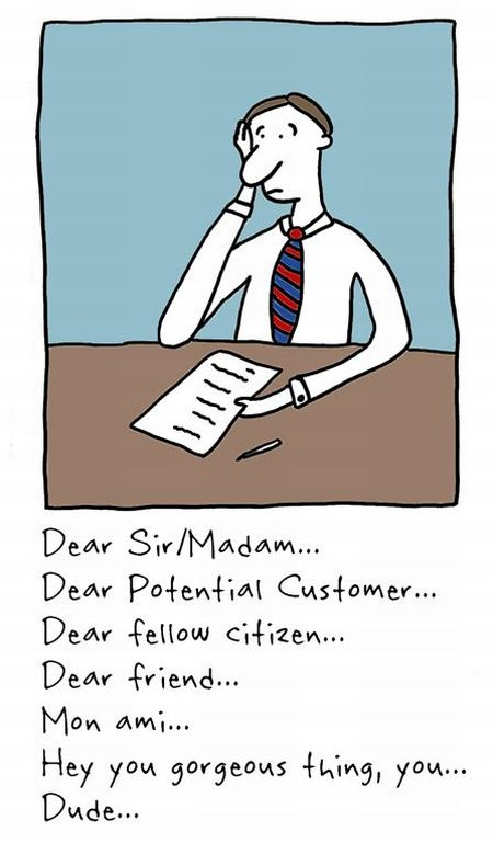 """The """"T"""" Cover Letter."""