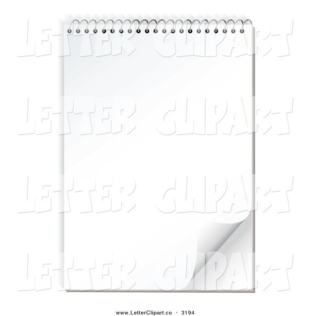 Letter Paper Clipart Background.