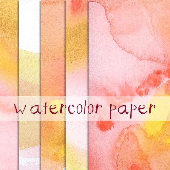 Watercolor Paper Image Pack Clip Art Background Border Template.