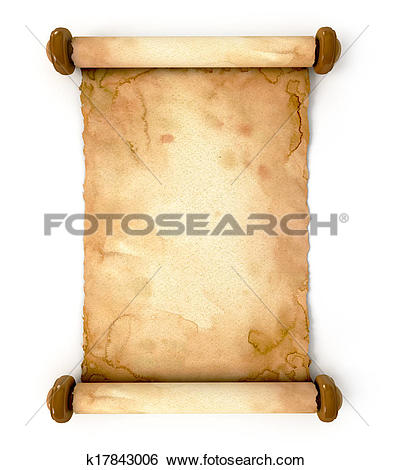 Drawing of Parchment on flowers retro letter background k0318023.