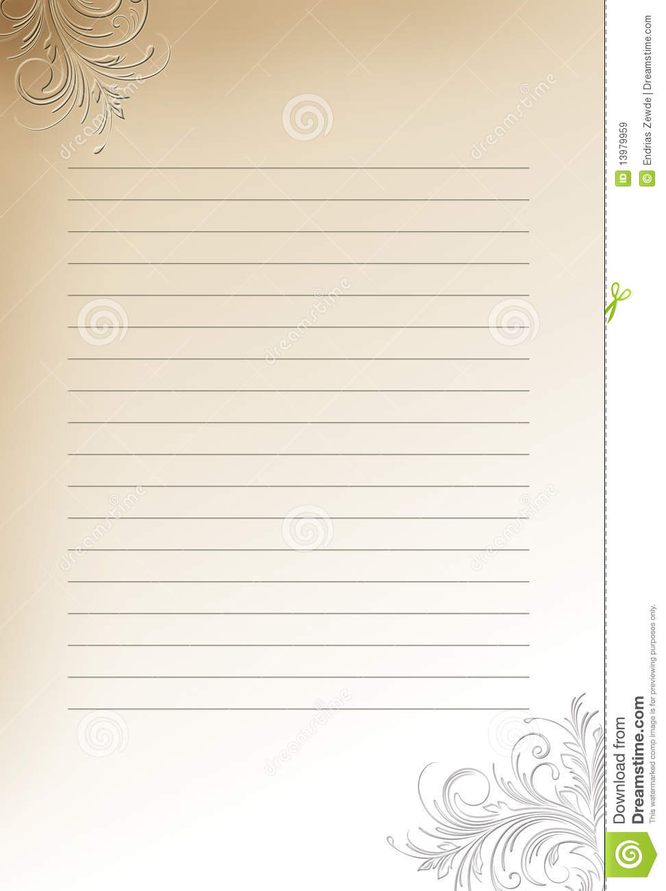 Letter Paper Background Royalty Free Stock Images.