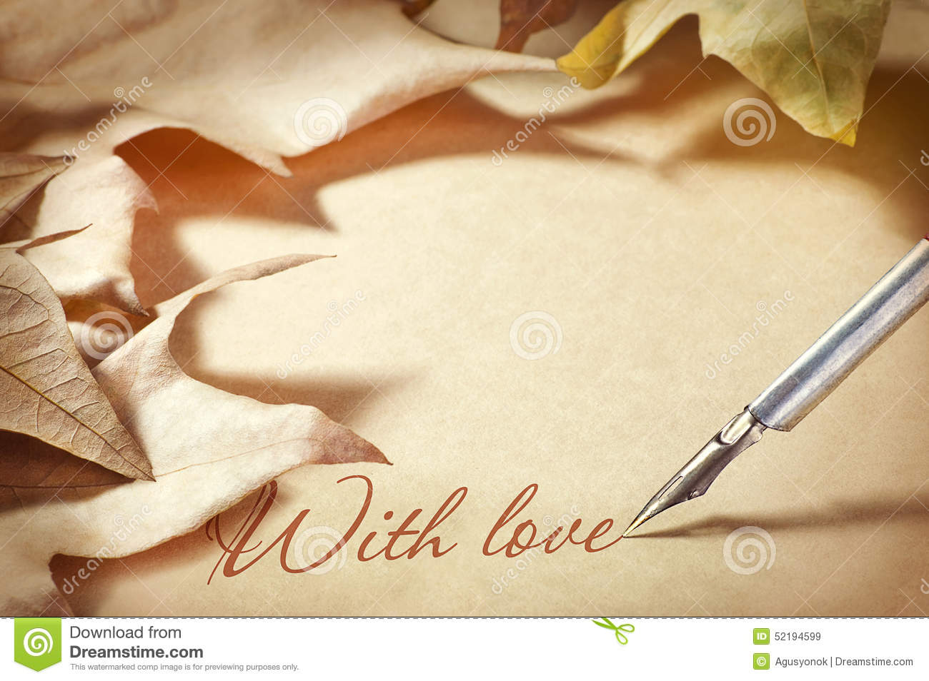 Letter Paper Background Stock Image.