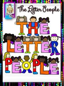 Clip Art~The Letter People Alphabet.