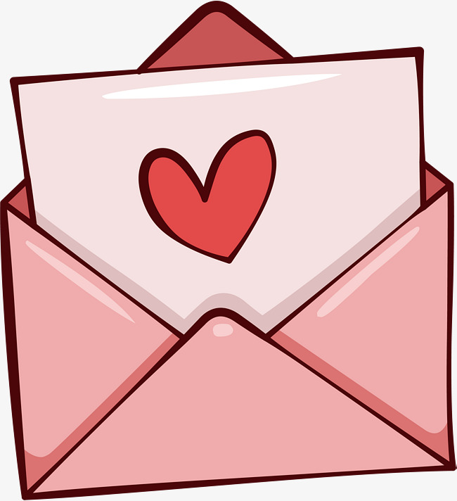 Download Free png pink romantic love letter, Ve.