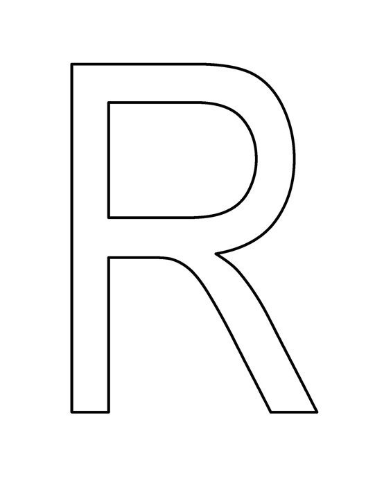 Letter R Clipart Black And White.