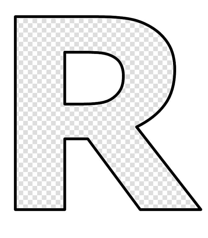 Moldes, black letter R illustration transparent background.