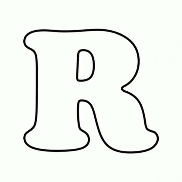R Clipart Black And White.