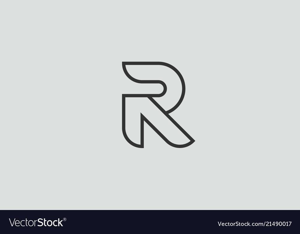 Black and white alphabet letter r logo icon design.