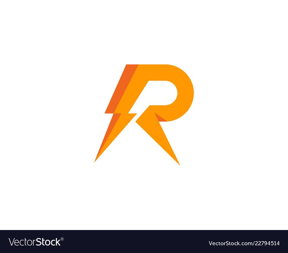 Power letter r logo icon design.