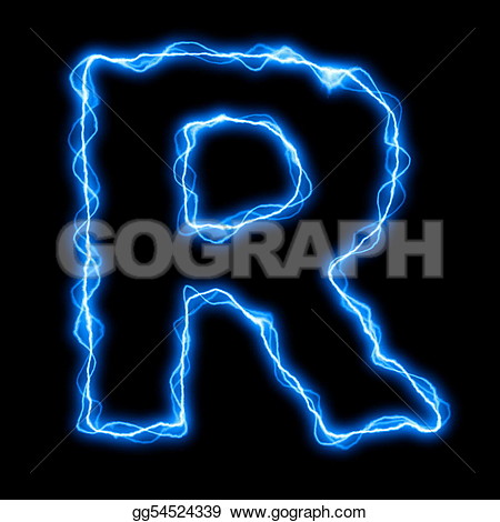 Letter S Font Lightning Bolt Clipart Image.