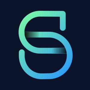Letter S geometric line logo vector.