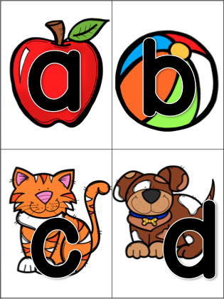Letter Sounds Clipart on Different Words Or Sound In Phonics