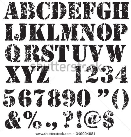 Stencil Letters Stock Images, Royalty.