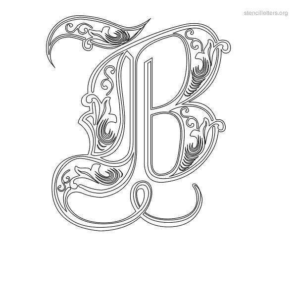 Letter stencil clipart clipground stencil letters b printable free b stencils publicscrutiny Gallery