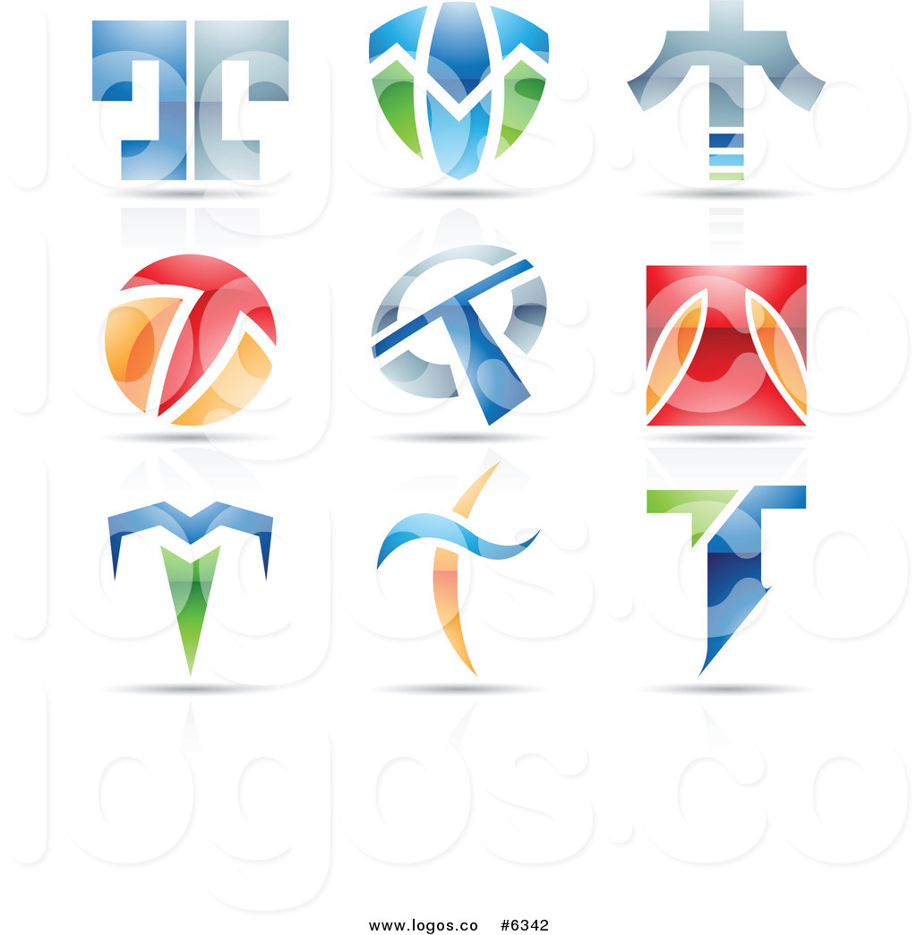 Royalty Free Clip Art Vector Logos of Colorful Letter T.