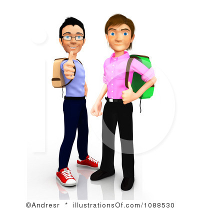 Clipart College Students.