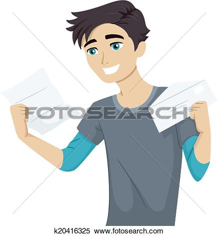 Clipart of College Acceptance Letter k20416325.