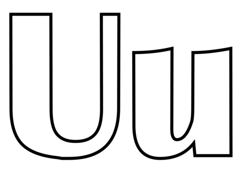 Classic Letter U coloring page.