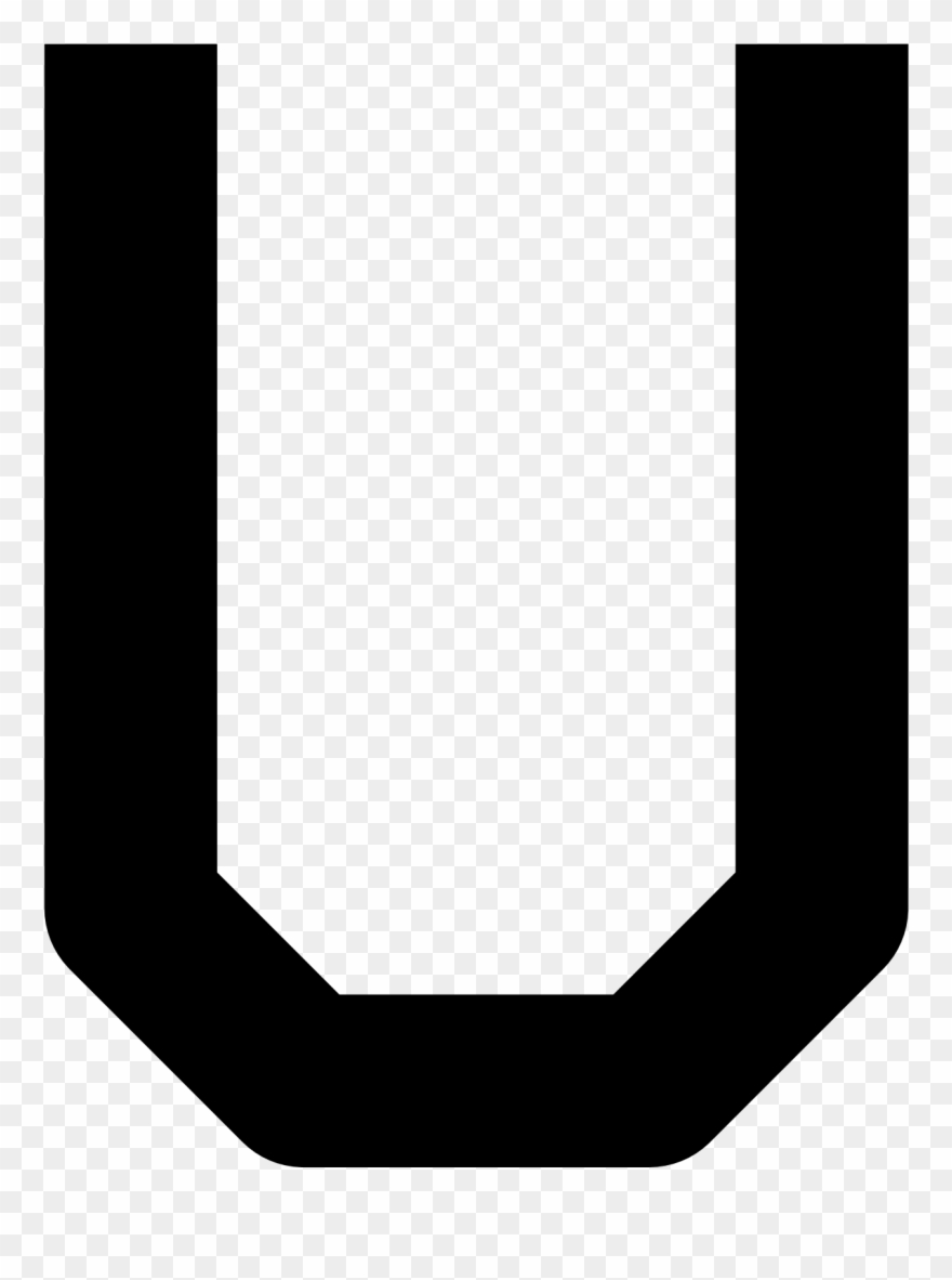 Black And White Letter U Png & Free Black And White Letter U.