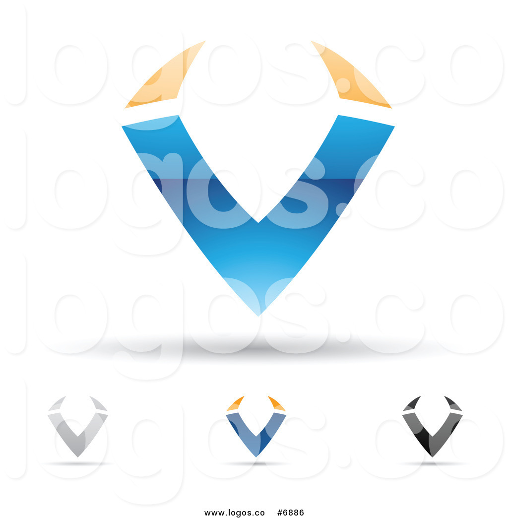 Royalty Free Clip Art Vector Logos of Letter V Designs by.