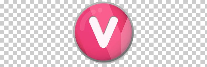 Letter V Roundlet, pink and white v logo PNG clipart.