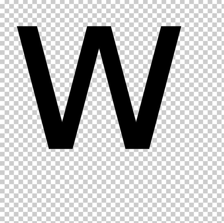 Letter W Alphabet PNG, Clipart, Alphabet, Angle, Black.