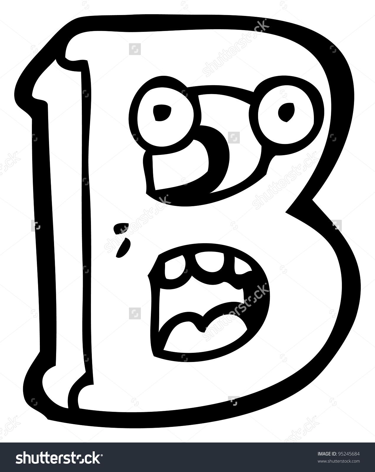 Cartoon Letter B Face Stock Illustration 95245684.