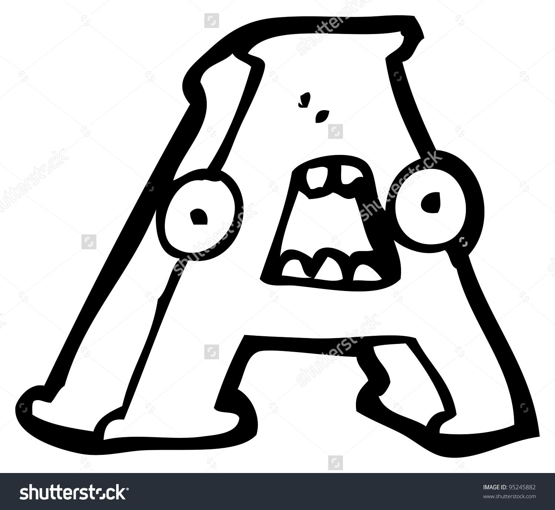Cartoon Letter Face Stock Illustration 95245882.