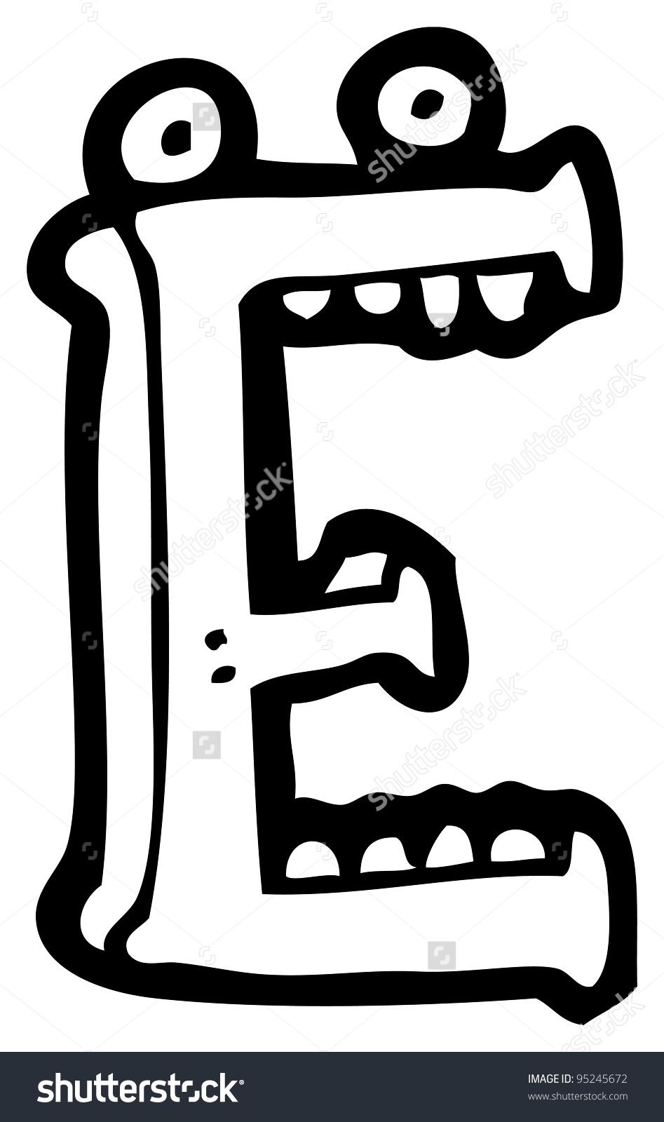Cartoon Letter E Face Stock Illustration 95245672.