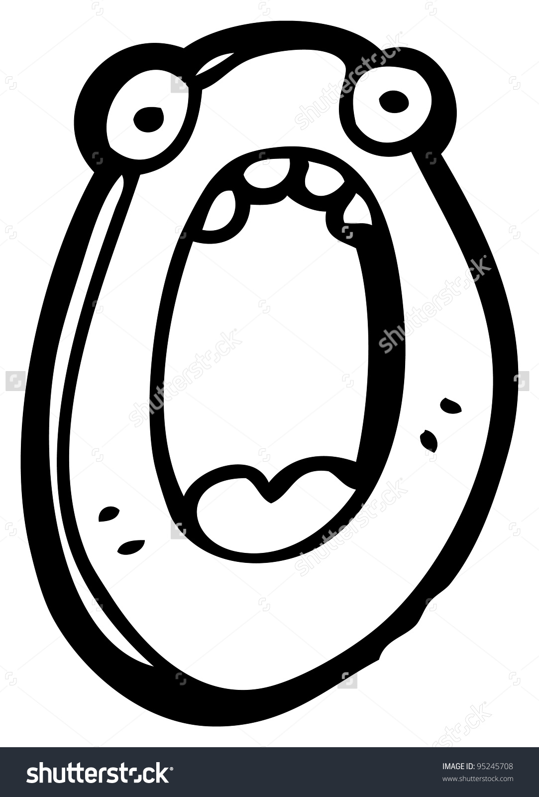 Cartoon Letter O Face Stock Illustration 95245708.