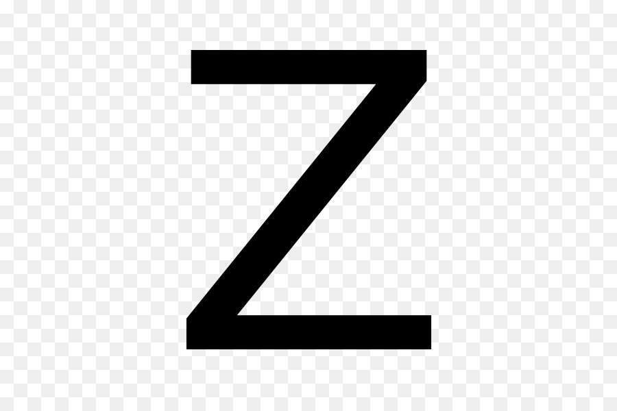 Letter case Z English alphabet.