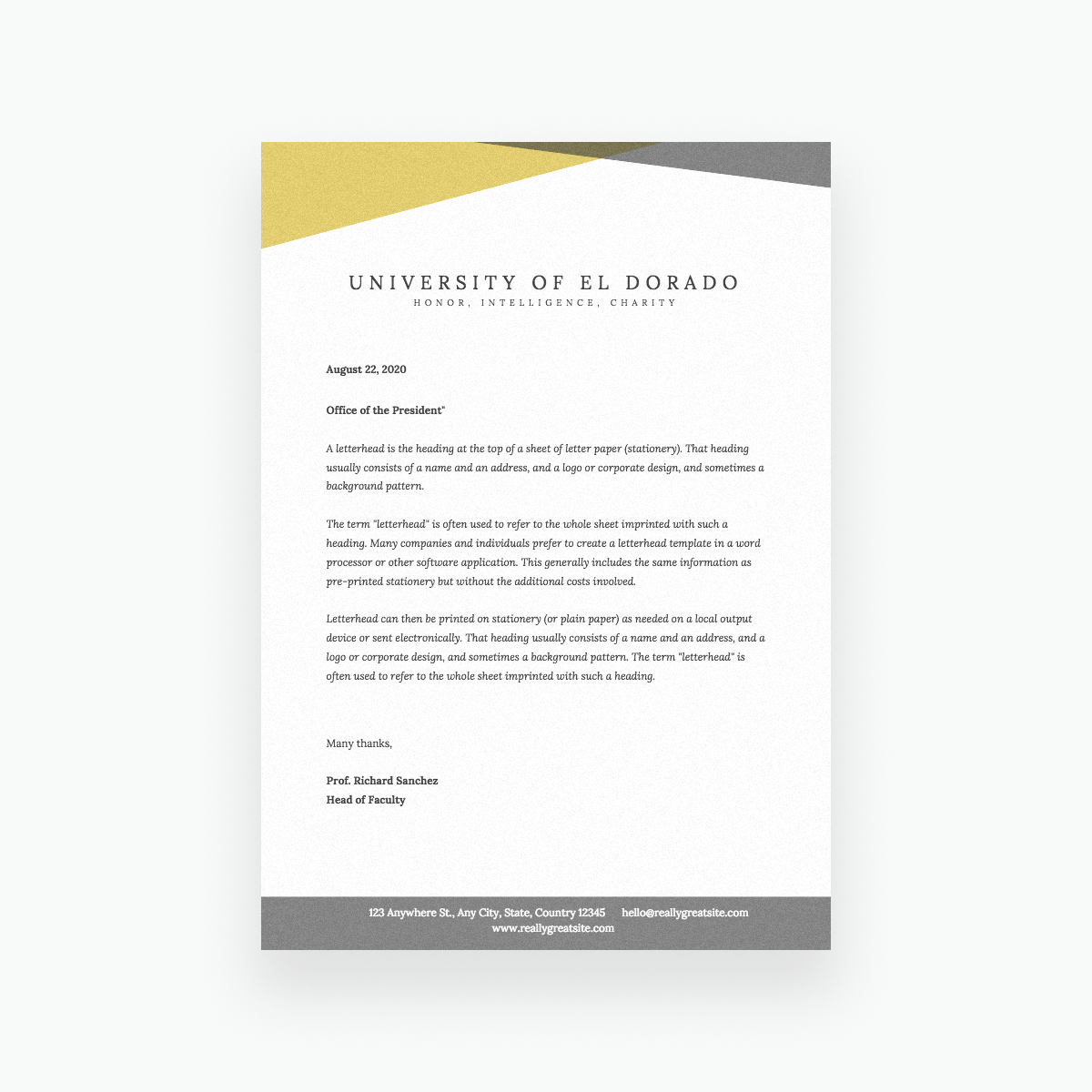 Free Online Letterhead Maker With Stunning Designs.