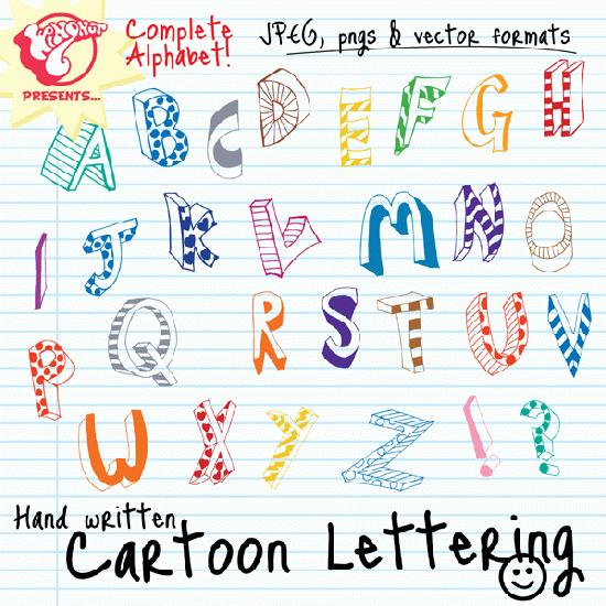 Lettering clipart.