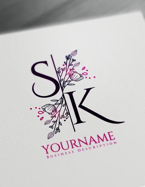 Floral Letter logos.